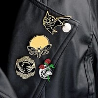 Enamel Pins You Want To Like Yourself Dark Punk Brooches Leather Coat Hat Bag Decor Ornament