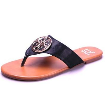 Tory Burch Inspired Sandal in Black