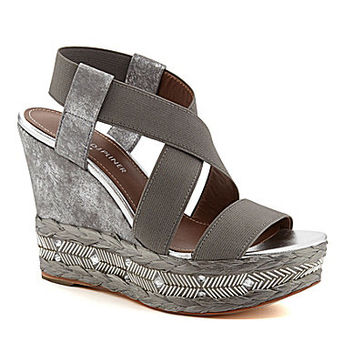 Donald J Pliner Tilisp Beaded Platform Wedges - Light