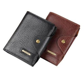 6 Documents Holders PU Leather Wallet 6 Card Slots Travel Passport Card Holder For Men