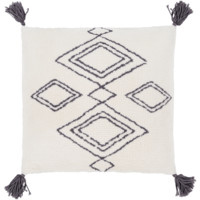 Braith Pillow II ~ Cream/Charcoal