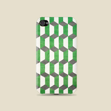 Green Motif Cool pattern Plastic Hard Case - iphone 5 - iphone 4 - iphone 4s - Samsung S3 - Samsung S4 - Samsung Note 2