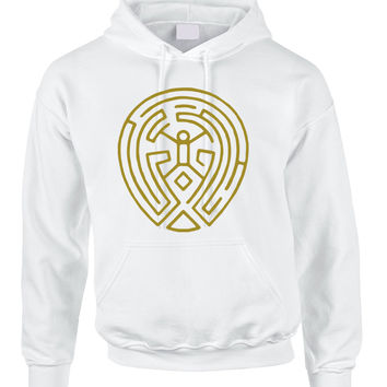 Adult Hoodie Maze Map Gold Print TV Cool Fans Popular Top