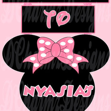 Printable Minnie Mouse Inspired Welcome Sign