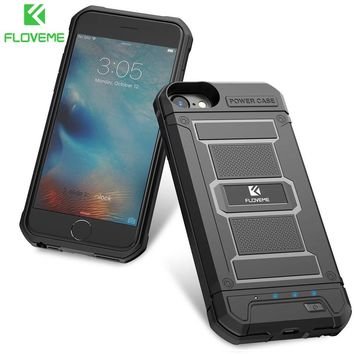 FLOVEME 4200mAh Battery Charger Cases For iPhone 8 7 6s Plus External 3000mAh Armor Power Case For iPhone 7 6 Power Bank Backup
