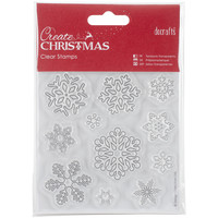 Papermania Create Christmas Mini Clear Stamps 102Mm X 102Mm-Snowflakes