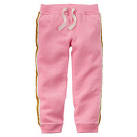 Sparkle Stripe Neon French Terry Joggers