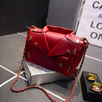Chain Bags Shoulder Bags Fashion Shirt One Shoulder Style Suits [6582268743]