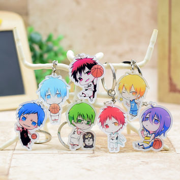 Kuroko no Basket acrylic Keychain Pendant Car Key  Accessories Cute Japanese Cartoon Kuroko's Basketball 7 Styles H003 LTX1