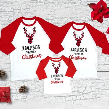 Matching Family Christmas Shirts Reindeer Family