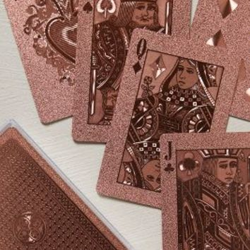 Metallic Playing Cards by Anthropologie Rose One Size House & Home