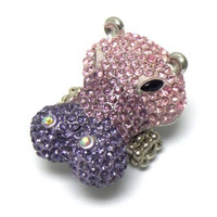 Crystal 'Bling' Eye-Catching Hippo Ring