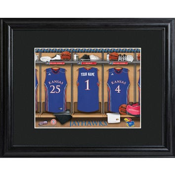 Personalized College Basketball Locker Room Sign - Kansas