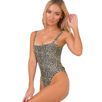Sexy Women Ladies Leopard Print Strap Sleeveless Backless Slim Party Jumpsuit