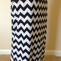 Black and white Chevron maxi skirt, summer skirt, chevron maxi skirt, skirt, maternity skirt, long skirt