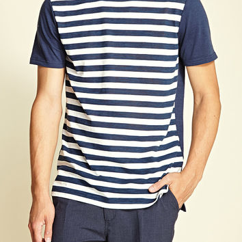 Striped Front Tee
