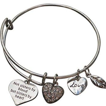 Best Friends Bracelets Not Sisters By Blood But Sisters By Heart Bracelet Friend Jewelry Perfect Gift for Friends