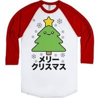 Kawaii Christmas-Unisex White/Red T-Shirt