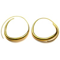 Tom Binns wavy hoop earrings