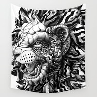 Lion Wall Tapestry by BIOWORKZ