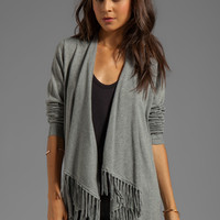 Central Park West Casper Fringe Cardigan Wrap in Heather Grey from REVOLVEclothing.com
