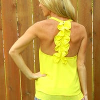 Sweet Tea Tank Yellow