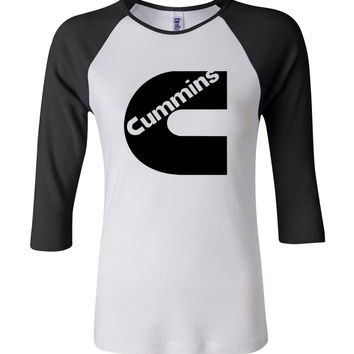 Cummins Dodge 3/4 Sleeve Baseball Ladies Jersey
