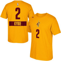 Kyrie Irving Cleveland Cavaliers adidas Christmas Day Name & Number T-Shirt - Gold
