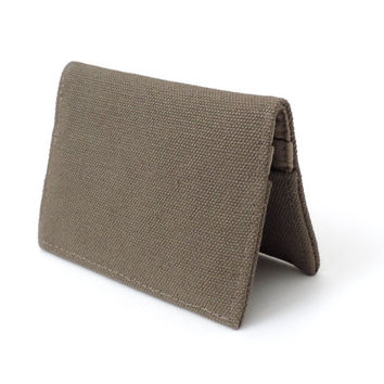 Canvas Fold Wallet Slim Bifold Wallet Tan