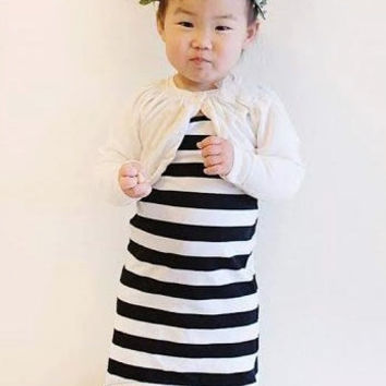 Black Stripe Maxi Dress, Tank Maxi Dress, Child Dress, Baby Dress, Toddler Dress, Kids Dress, Sizes Infant to Size 7