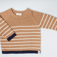 Baby Alpaca Wool Striped Pullover Sweater