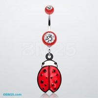 Precious Ladybug Belly Button Ring