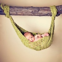 Baby Hammock Photography Prop - Chunky Yarns | PerchingAtHome - Children's on ArtFire