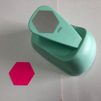 free ship 2 inch(51mm) Hexagon design of craft punch for greeting card  DIY punchers sexangle scrapbooking punches paper punch
