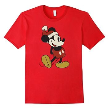 Disney Classic Mickey Mouse Christmas T Shirt