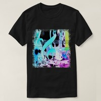 Guitar and Musical Notes Print T-Shirt