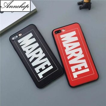 Hot Brand Letters Hard Case For iphone 6 6s Plus 7 8 Plus 5s SE Marvel Anime Phone Cover For iphone X Capa Coque Funda cases