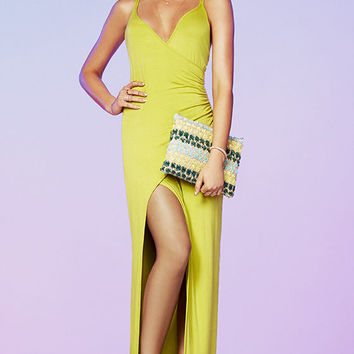 Anaconda Chartreuse Maxi Dress