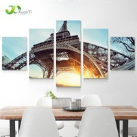 Art Oil Painting 5 modern Paris Tower Picture Rom No Frame