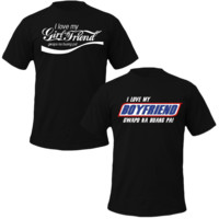 i love my boyfriend/girlfriend coke and snickers style Couple Tshirts