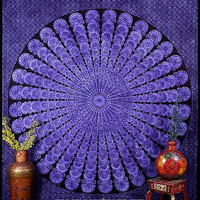 Mandala Purple Color Tapestry Indian Bedspread Throw Concentration Wall DBS187