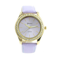 Lavender Crystals Watch