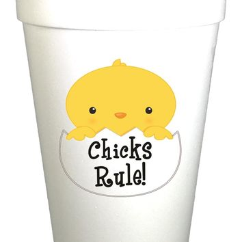 Chick's Rule Easter Styrofoam Cups