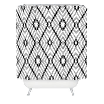 Budi Kwan Links Mono Shower Curtain