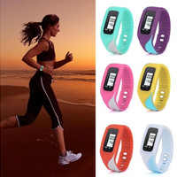 New Fashion Digital LCD Pedometer Run Step Walking Distance Calorie Counter Watch Bracelet Factory Prcie Gifts [8834048076]