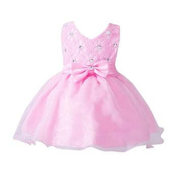 Baby Girl Dress Flower Wedding Party Christening Gown Formal Pageant Tutu Girls Dresses