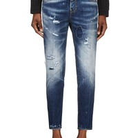 Dsquared2 Blue Distressed Linda Jeans