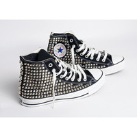 Custom Women's Studded Converse