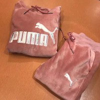 "Women Fashion ""Puma"" Print Hoodie Top Sweater Pants Sweatpants Set Two-Piece Sportswear"