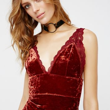 Free People Viper Velvet Bodycon